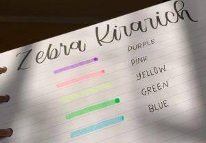 Destacadores Glitter Zebra Kirarich